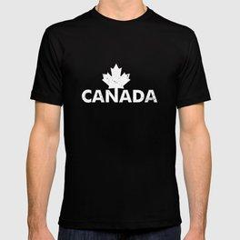 Canada Maple Leaf Flag Tee Funny Canadian Flag T-shirt