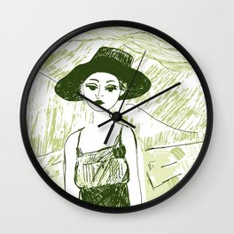 Woman on the beach Wall Clock