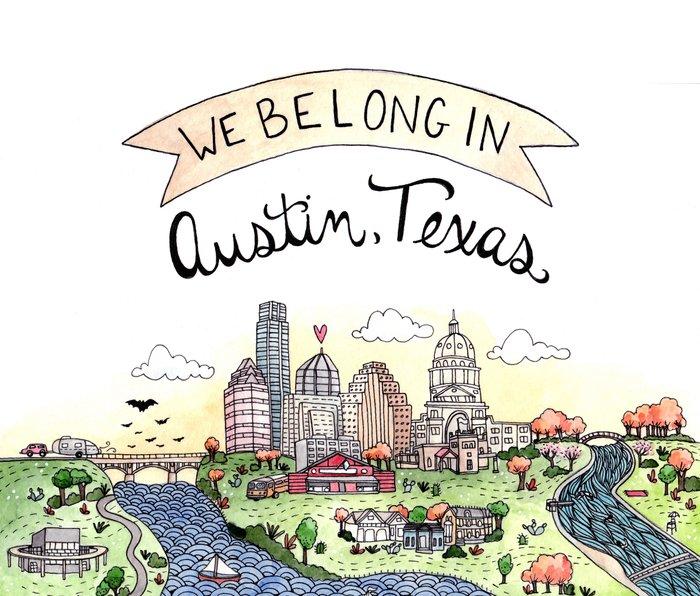 We Belong in Austin Metal Travel Mug