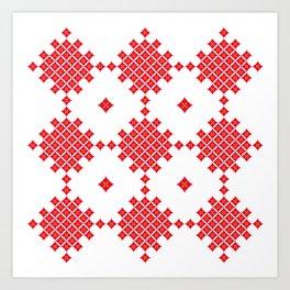 Red Diamond Art Print