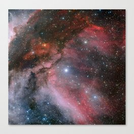 The Carina Nebula, Wolf–Rayet star WR 22 Canvas Print
