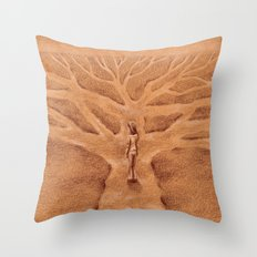 Paths like Branches Throw Pillow