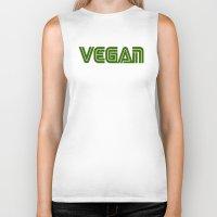 vegan Biker Tanks featuring Vegan #1 by Jeremy Jon Myers