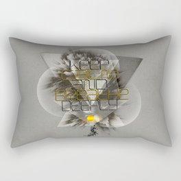 Keep calm and breathe deeply Rectangular Pillow