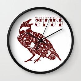 Shrike Club Word Raven  Wall Clock