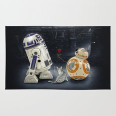 LOVE DROID & THE CAT Rug