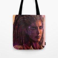 starcraft Tote Bags featuring Sarah Kerrigan  by p1xer
