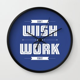 Lab No. 4 - Work for it Motivational, Inspirational Quotes Poster Wall Clock