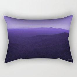 Violet Scenic View of Blue Ridge Mountains Georgia  Rectangular Pillow