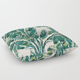 BIG FEELINGS Banana Leaf Tropical Floor Pillow