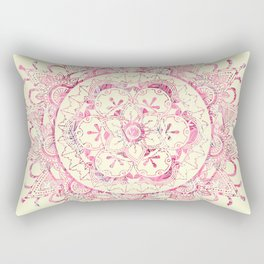 Floral Mandala Rectangular Pillow