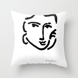 Henri Matisse Nadia With a Serious Expression, Original Artwork, Tshirts, Prints, Posters Throw Pillow