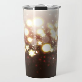 Stars Can't Shine Without Darkness sparkly lights stardust and fireworks art Travel Mug