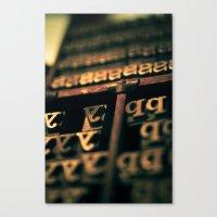 typo Canvas Prints featuring Typo by Jean-François Dupuis