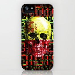 digital Skull (flag of spain) iPhone Case