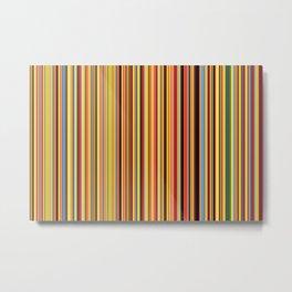 Old Skool Stripes - Bold - Extra Wide Metal Print