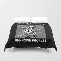 fringe Duvet Covers featuring Fringe Division by Ant Atomic