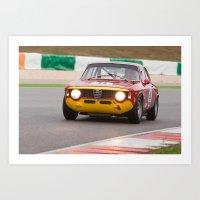gta v Art Prints featuring Alfa Romeo GTA by ClassicPressCenter