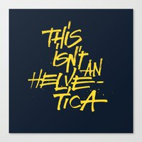 "helvetica Canvas Prints featuring ""Helvetica"" Lettering by Sergi Ferrando"
