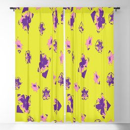 Free Floating Lilies Blackout Curtain