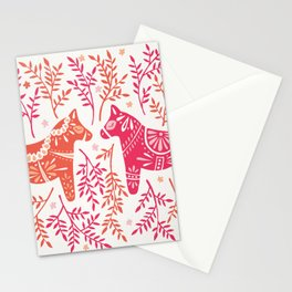Swedish Dala Horses – Melon Palette Stationery Cards