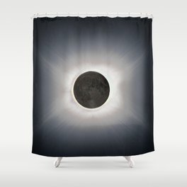 Total Eclipse by  OLena Art Shower Curtain