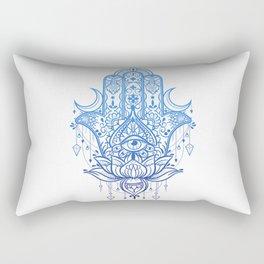 Hamsa Lotus Hand Rectangular Pillow