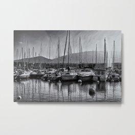 Boats on Lake Geneva Metal Print