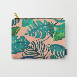 tropical pinky leaves Carry-All Pouch