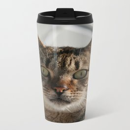 Beautiful Eyed Tabby Cat  Travel Mug