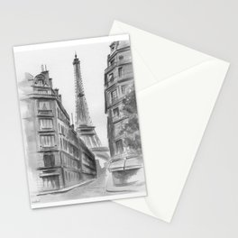 Black and white Paris. Stationery Cards