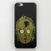 c3po iPhone & iPod Skins featuring C3PO by Peyeyo