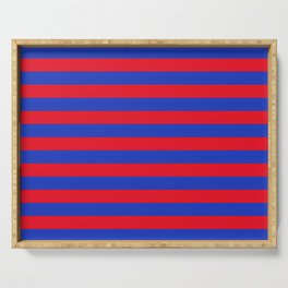 Blue and Red Stripes Serving Tray