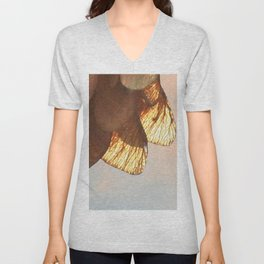Cluster of lightened leaves Unisex V-Neck