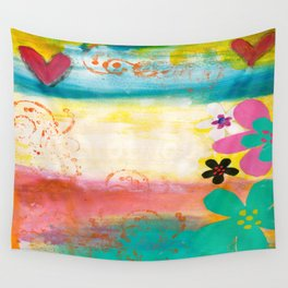 Stepping into Spring Wall Tapestry