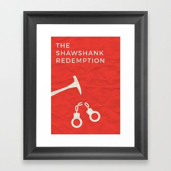The Shawshank Redemption Minimalist Poster Framed Art Print