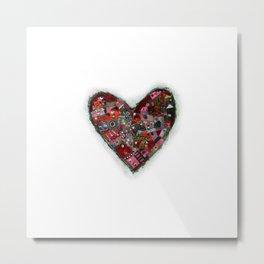 heart zip. Metal Print