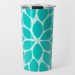 Turquoise Chrysanthemum Travel Mug