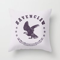 ravenclaw Throw Pillows featuring Ravenclaw House by Shelby Ticsay