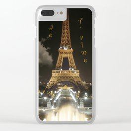 Eiffel Tower at Night Clear iPhone Case