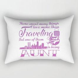 Traveling Aunt Rectangular Pillow