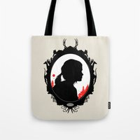 ellie goulding Tote Bags featuring Ellie by Duke Dastardly