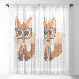 Fox Nerd Sheer Curtain
