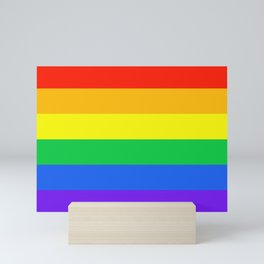 Rainbow Pride Horizontal Stripe Pattern Mini Art Print