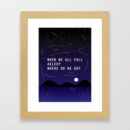 Billie's lyric- Bury a friend Framed Art Print