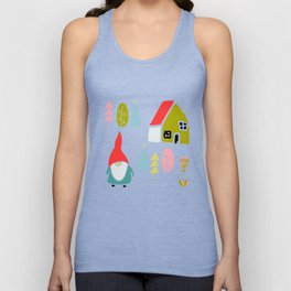 Christmas gnome Unisex Tank Top