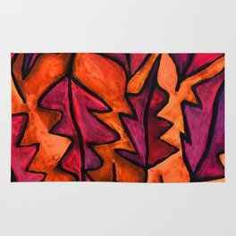 Autumn fire leaves Rug
