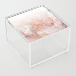 Beautiful Pink and Gold Ombre marble under snow Acrylic Box