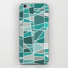 Turquoise and grey iPhone & iPod Skin
