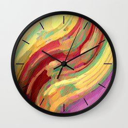 Distant Fire Wall Clock